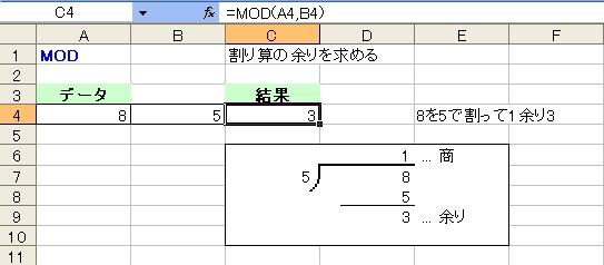 関数 mod 【Excel】MOD関数の使い方、INT関数との関係、マイナスの場合の余り